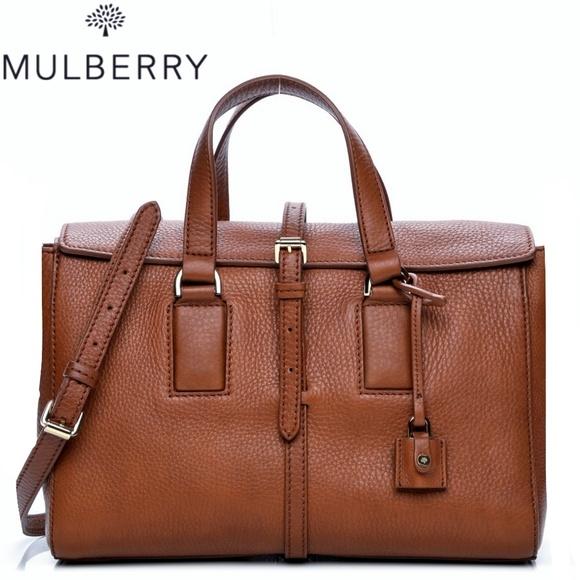 73818d2329 🆕NWT Mulberry Leather Oak Camel Brown Calfskin Ba